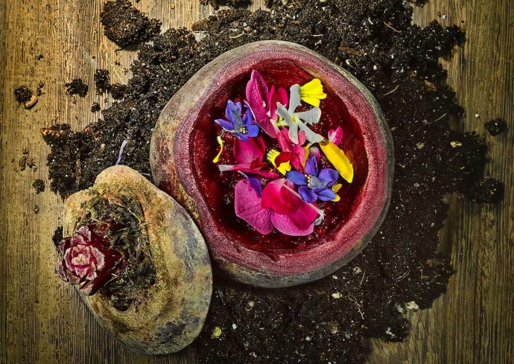 Tartar de remolacha a las finas hierbas