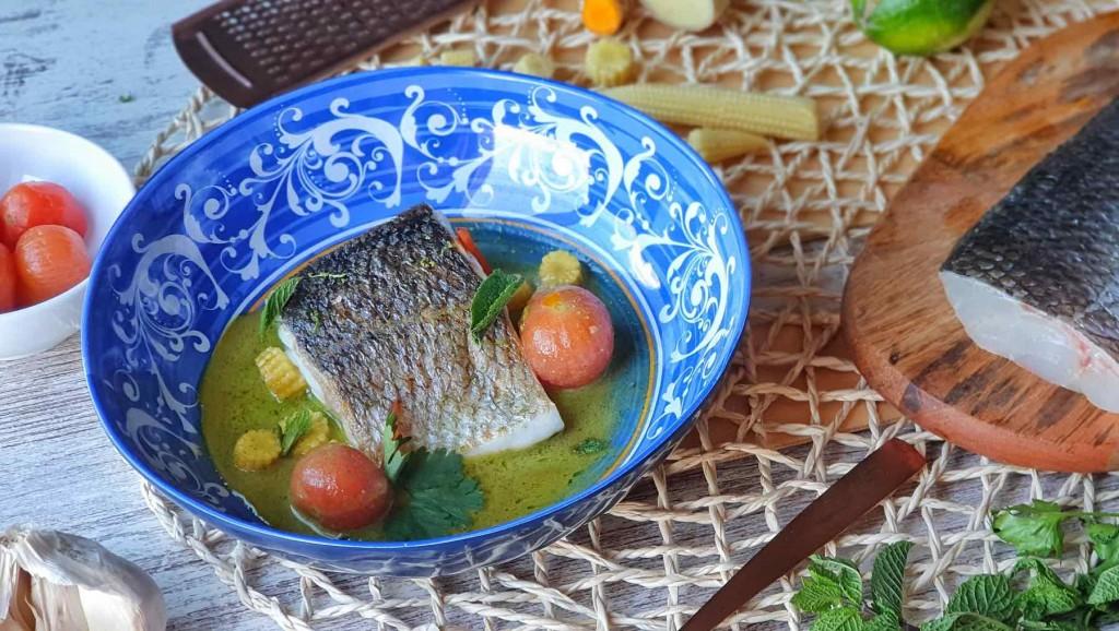 Curry verde casero de Lubina