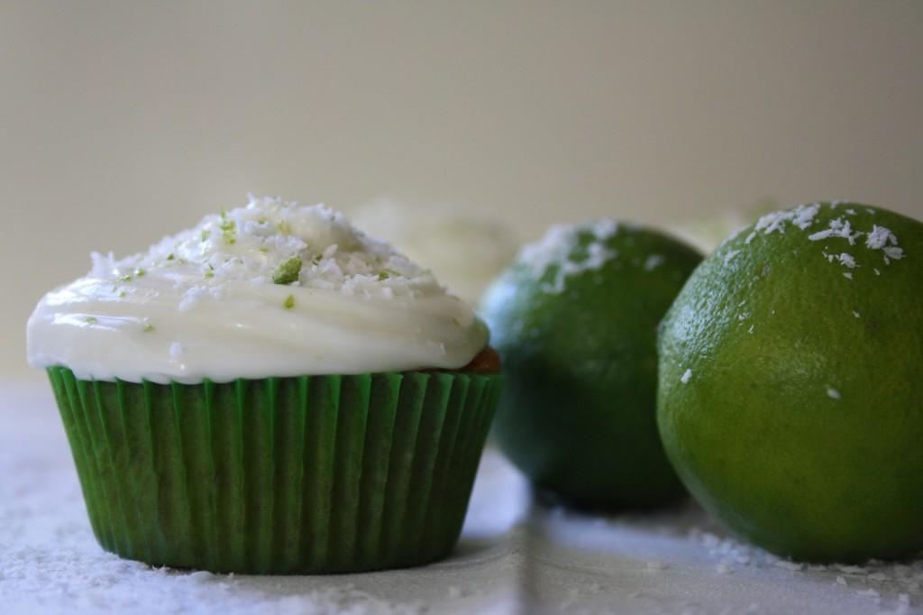 Cupcakes de coco y lima