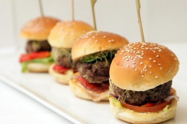 Mini hamburguesa de Berenjena