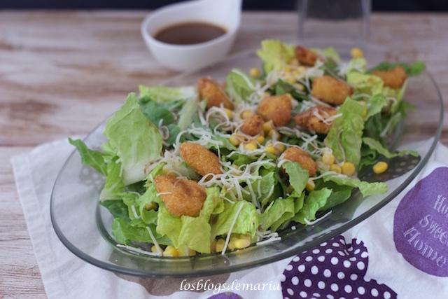 Ensalada de pollo con vinagreta agridulce