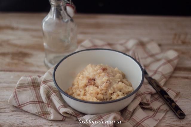 Risotto con gorgonzola, peras y nueces