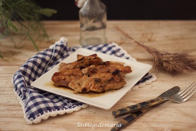 Churrascos de cerdo al ajo y limón