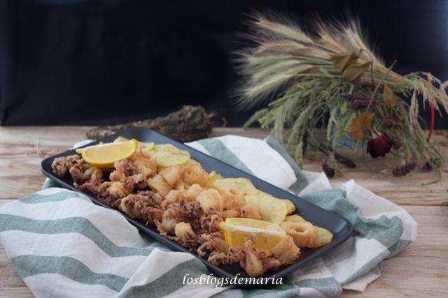 Calamares fritos al limón