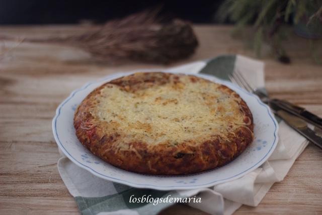 Tortilla de pisto con queso