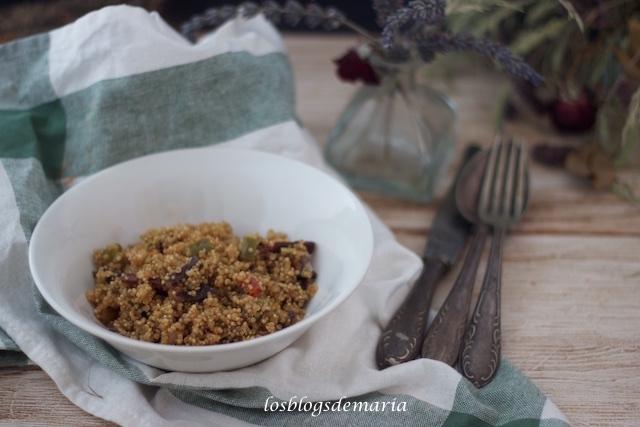 Quinoa con verduras y cecina