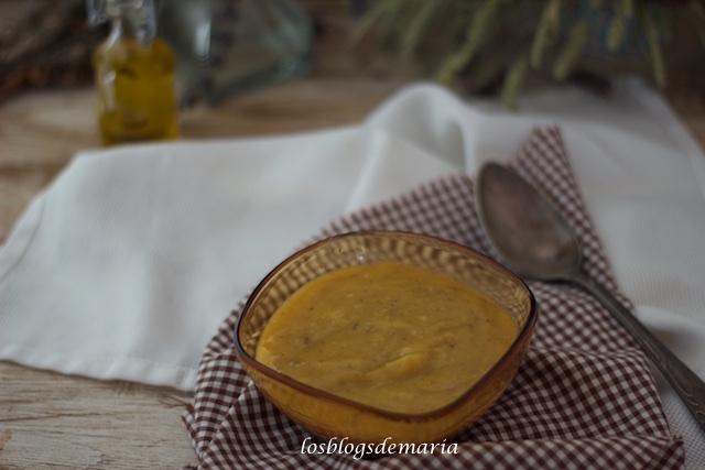 Crema de calabaza y champiñones