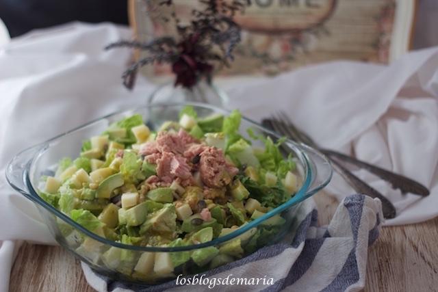 Ensalada con vinagreta de guacamole