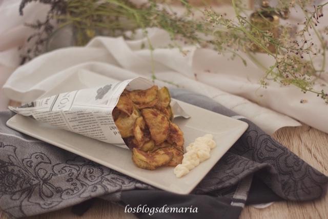 Calabacines fritos en tempura de harina de garbanzos