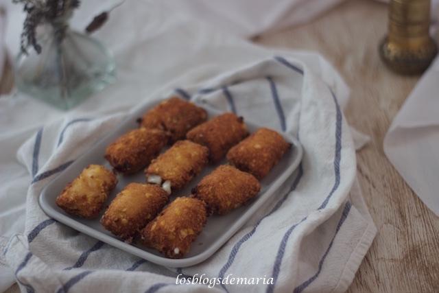Bocaditos de queso emmental crujiente