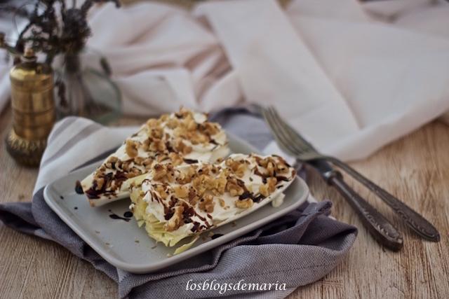 Endivias con queso, nueces y reducción de Pedro Jiménez
