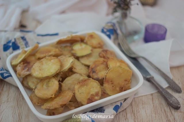 Calabacines en tempura de mostaza