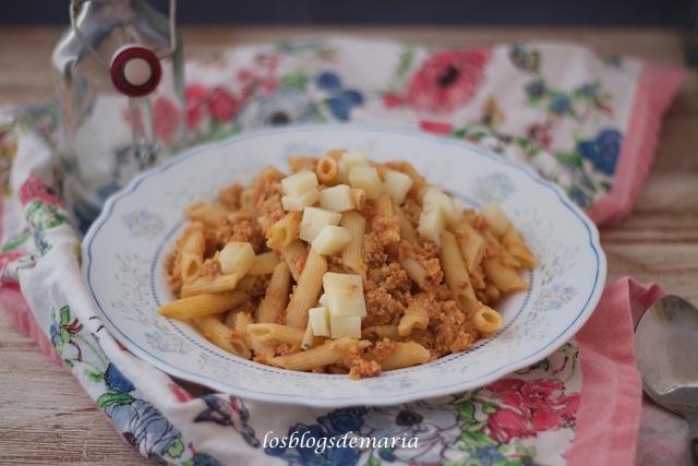 Macarrones con pollo y verduras en Cuisine
