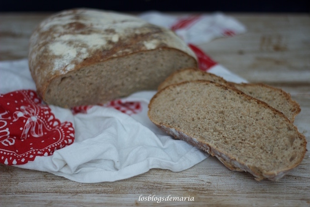 Pan de harina de espelta y pipas de girasol con masa madre