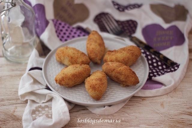 Croquetas de caldo de puchero, masa en Cuisine y fritas en Airfryer