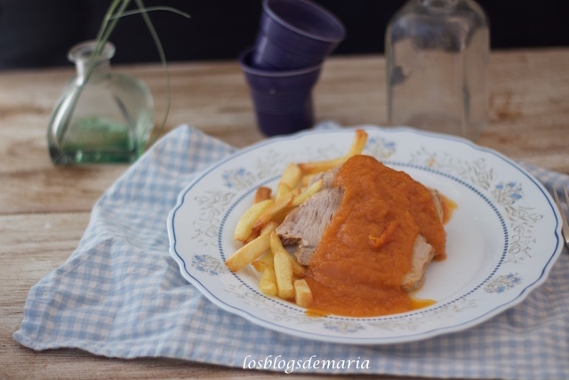 Lomo en Cookeo con salsa de tomate
