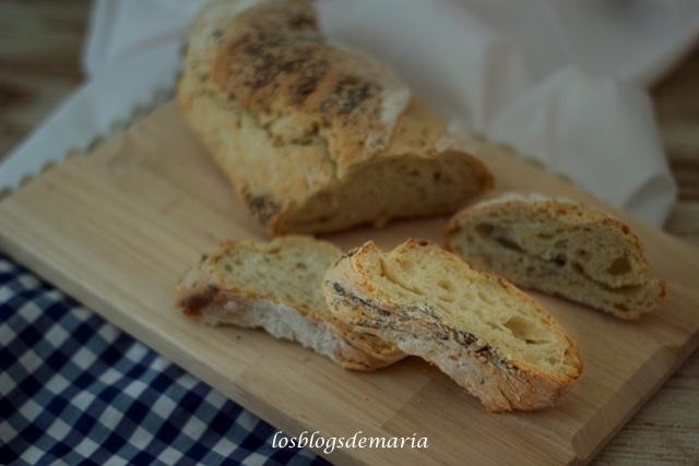 Barra de pan y semillas, técnica sin amasado