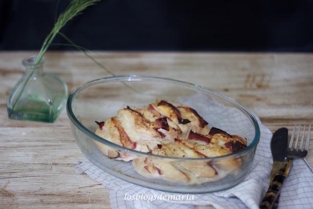 Pechugas de pollo con bacon y queso