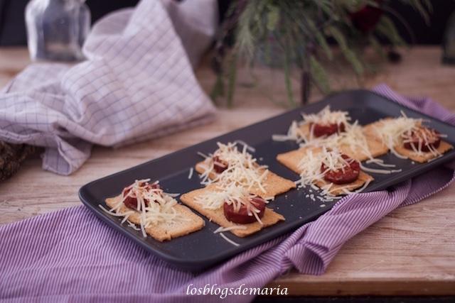 Aperitivo de chorizo y queso