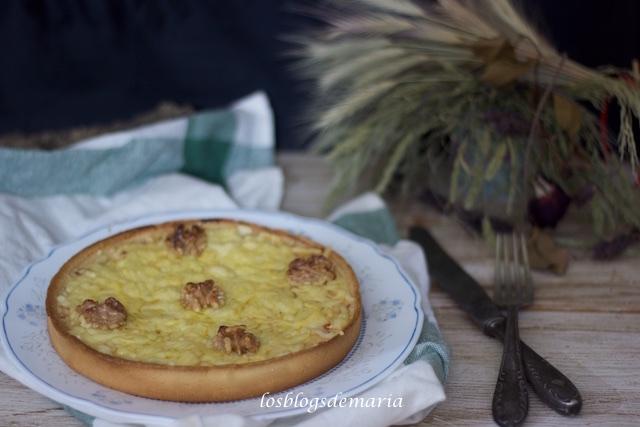 Quiche de calabacín, queso y nueces