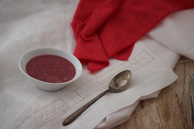 Salsa de frambuesas para carne en Thermomix