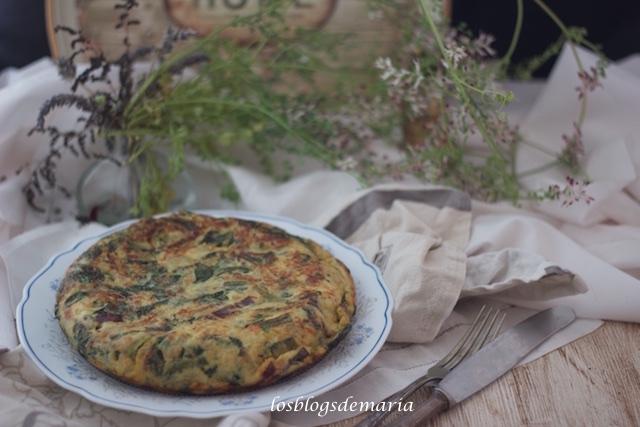 Tortilla de acelgas y cecina, receta Thermomix TM5