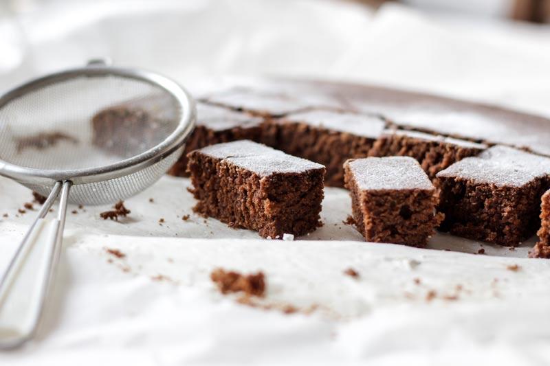 Bizcocho de nueces y chocolate