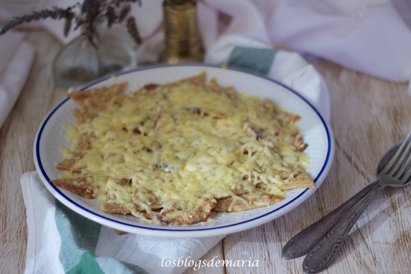 Nachos de quinoa con queso