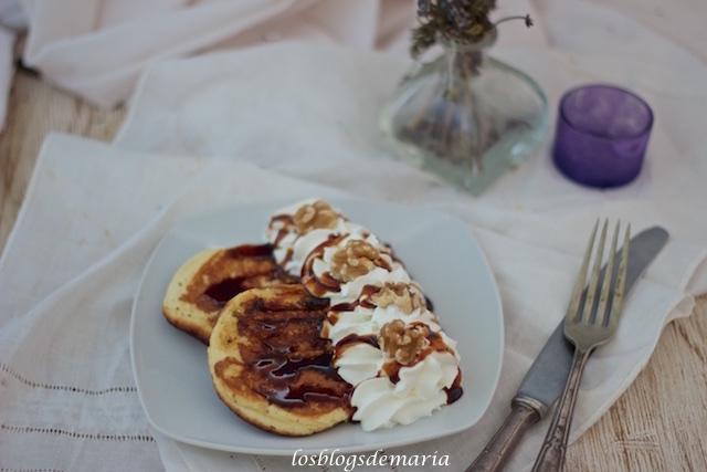 Tortitas americanas esponjosas