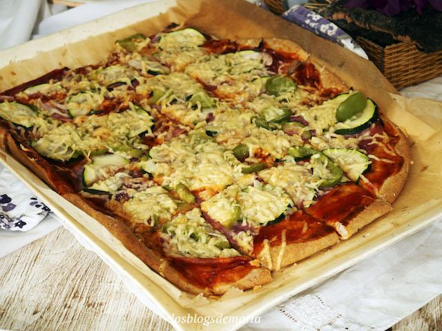 Pizza con harina de espelta integral