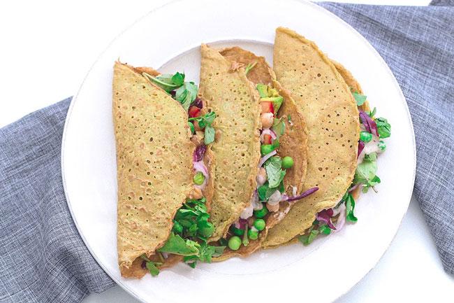 Crêpes veganos (sin gluten)