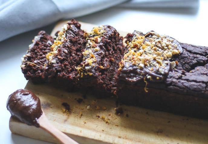 Budín de chocolate y avena