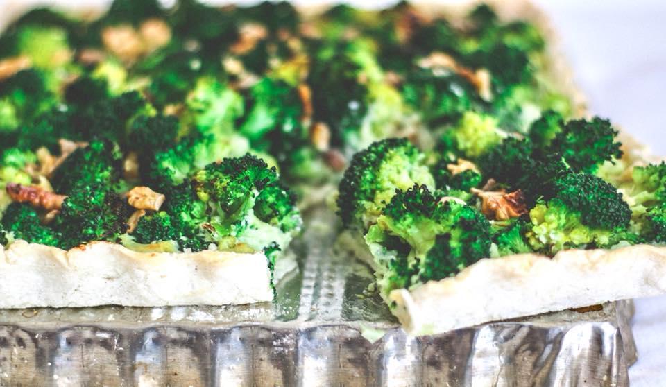 Tarta cremosa de brócoli (Sin Gluten-100% Vegan)
