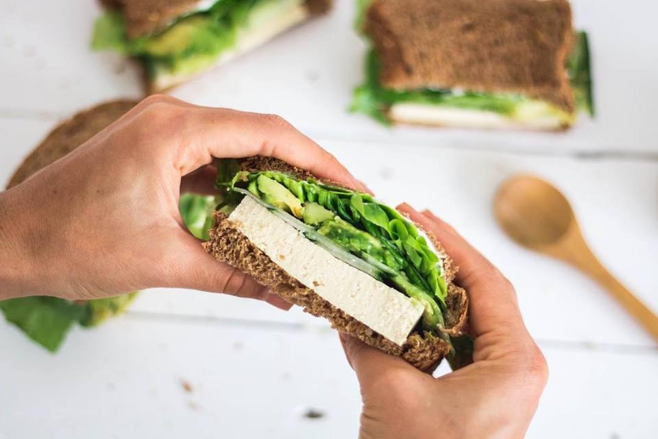 Simple y clásico: sandwich vegano