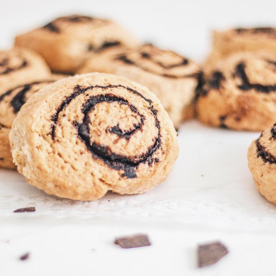 Rolls de canela tipo cookie