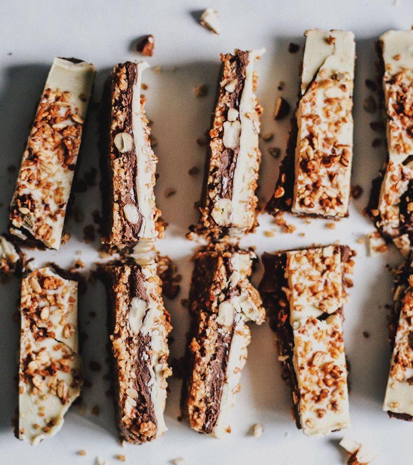 Barritas de granola a los dos chocolates