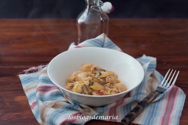 Tras los excesos navideños… Prueba este arroz con chirlas